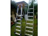Ladders aluminum x 2