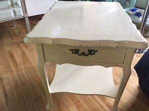 Butter cream side table- 1 available