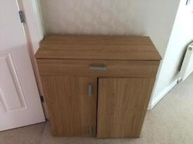 Shoe Storage Cabinet - Walnut Effect