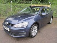 Volkswagen Golf 1.6 SE TDi Turbo Diesel 5DR Estate (blue) 2014