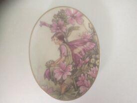 Flower Fairies The Mallow Fairy oval plate.