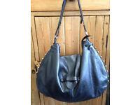 French Designer Leather Purse/Handbag, Hobo Style, Lamarthe Paris