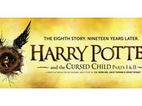 Harry Potter and the Cursed Child Parts 1 and 2 Thursday 31st July and Saturday 2nd September stalls