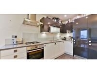 Modern 2 bed with 360 degree view over London and communal terrace.