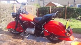 Kawasaki VN800 drifter. Indian red, Excellent condition