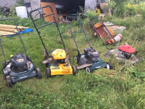4 mowers 3 will run. $80 for all