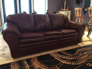 Pull out leather couch