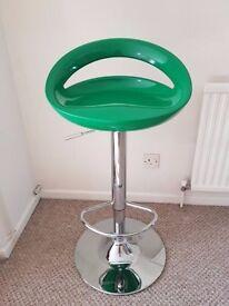 Very retro Debenhams Brand New Green Lift Bar Stool for a Breakfast bar or office