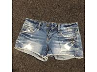 Two jean shorts