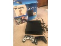 PS4, boxed with 2 controllers, grand theft auto & battlefield 1