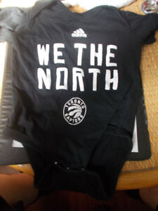 Toronto Raptors We The North Baby Diaper Shirt Size 6-12 Months