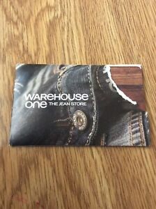 Warehouse One gift card.