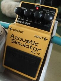 BOSS AC2 Acoustic simulator Pedal Great Condition