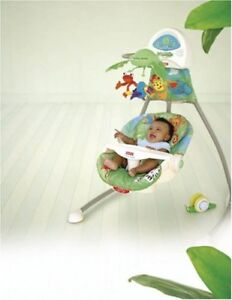 Plug in Or Battery Unisex Swing,-Great Condition,Positions,Speed