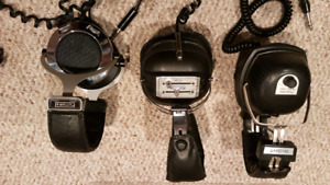 3 pairs of Vintage headphones