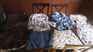 Girls teen clothes. Size small. 6 items