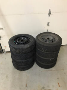 8 tires and rims off toyota Echo 175/65R14 bolt pattern 4x100
