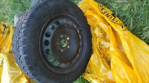 SET OF 4 WINTER VW GOLF WAGON TIRES AND RIMS FOR SALE