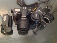 Nikon D7000 DSLR, 2 x Nikon Lenses. Digital camera plus extras