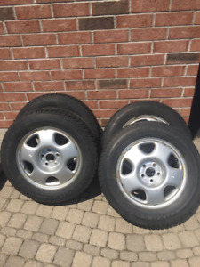 4 Toyo Open Country winter tires with Honda rims