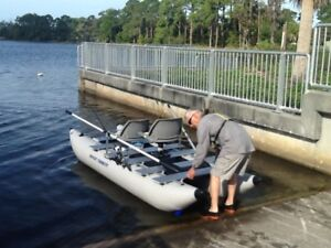 2 person inflatable pontoon boat