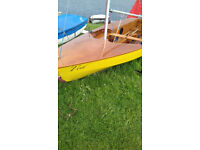 Miracle Sailing Dinghy with trailer and launcher trolley