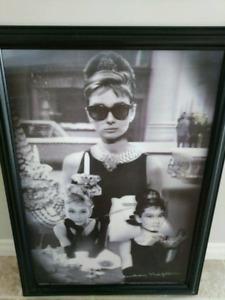 Audrey Hepburn / Breakfast at Tiffany's halogram Framed Photo.
