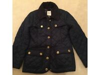 Girls quilted coat by J Jeans Age 8-9 navy in colour