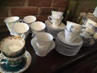 Job Lot - vintage china including Royal Albert(!), Trellis & Crown Ducal