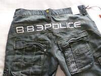 Denim Police Shorts