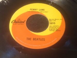 THE BEATLES - 1967 PENNY LANE/ STRAWBERRY FIELDS 45 RPM RECORD