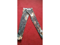Hype space design leggings size 6