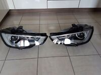 Genuine Audi A3 8v 12-16 Chrome Bi-Xenon Hella Headlight Headlamps.