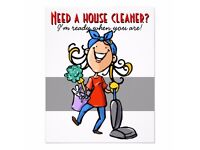 cleaning,ironing and garden tiding up or assisistance