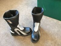 Kids Motorcycle boots size 36 black and silver unisex