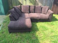 Dylan jumbo brown corner sofa