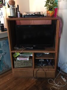 Solid Wood Entertainment System