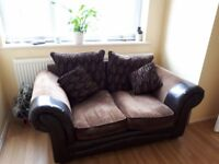 Modern 2 seater sofa and matching cushions