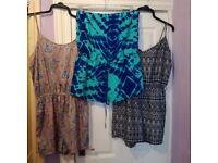 Ladies summer playsuits size 16