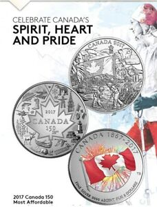 2017 CANADA 150 Silver 3 Coin Set SPIRT, HEART, PROUDLY CANADIAN