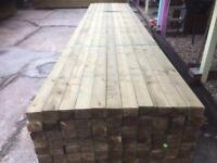 4x3 Timber rails 4.8m c24 treated construction