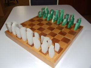 Onyx Chess Set with Board.