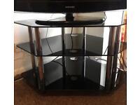 3 Shelf Black TV Stand