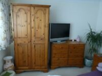 Set of Ducal Antique Pine Bedroom Furniture