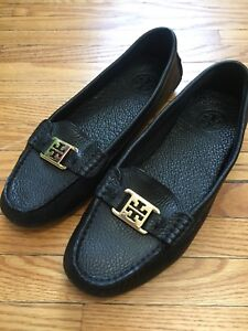 Black leather Tory Burch shoes size 8