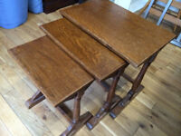 Charming antique nest of 3 tables