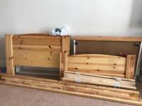 single bed wood frame , free mattress