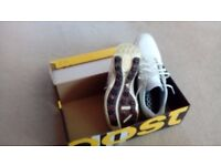 Adipower Boost 2.0 Golf shoes Size 12 wide, White/Silver