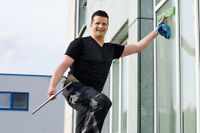 MUCH WORK OUTSIDE FOR WINDOW CLEANERS