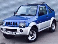 2003 SUZUKI JIMNY CONVERTIBLE, 1.3 ENGINE, SOFT TOP, LONG MOT & SERVICE HISTORY